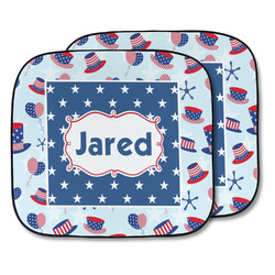 Patriotic Celebration Car Sun Shade - Two Piece (Personalized)