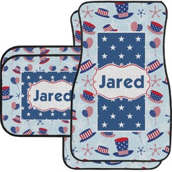 Patriotic Celebration Car Floor Mats Set - 2 Front & 2 Back (Personalized)