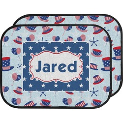 Patriotic Celebration Car Floor Mats (Back Seat) (Personalized)