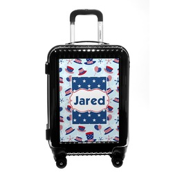 Patriotic Celebration Carry On Hard Shell Suitcase (Personalized)