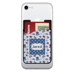 Patriotic Celebration 2-in-1 Cell Phone Credit Card Holder & Screen Cleaner (Personalized)