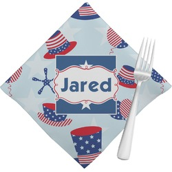 Patriotic Celebration Napkins (Set of 4) (Personalized)