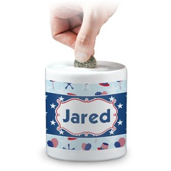 Patriotic Celebration Coin Bank (Personalized)