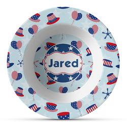 Patriotic Celebration Plastic Bowl - Microwave Safe - Composite Polymer (Personalized)