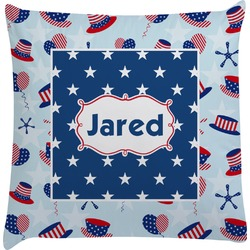 Patriotic Celebration Decorative Pillow Case (Personalized)
