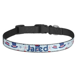Patriotic Celebration Dog Collar - Multiple Sizes (Personalized)