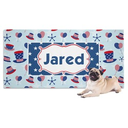 Patriotic Celebration Pet Towel (Personalized)