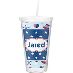 Patriotic Celebration Double Wall Tumbler with Straw (Personalized)