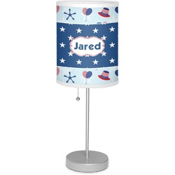 """Patriotic Celebration 7"""" Drum Lamp with Shade (Personalized)"""