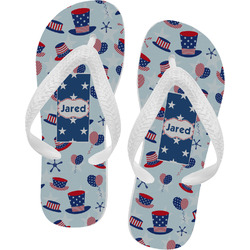 Patriotic Celebration Flip Flops (Personalized)