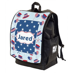 Patriotic Celebration Backpack w/ Front Flap  (Personalized)