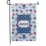 Patriotic Celebration Garden Flag - Single or Double Sided (Personalized)