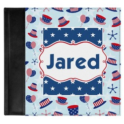 Patriotic Celebration Genuine Leather Baby Memory Book (Personalized)