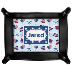 Patriotic Celebration Genuine Leather Valet Tray (Personalized)