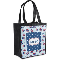 Patriotic Celebration Grocery Bag (Personalized)