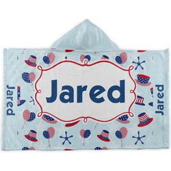 Patriotic Celebration Kids Hooded Towel (Personalized)