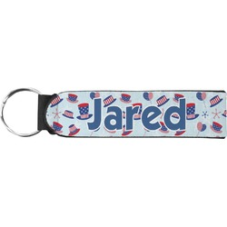 Patriotic Celebration Neoprene Keychain Fob (Personalized)