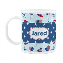 Patriotic Celebration Plastic Kids Mug (Personalized)