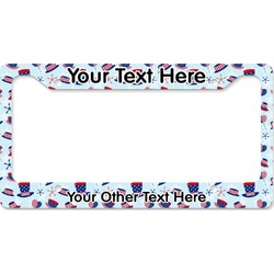 Patriotic Celebration License Plate Frame (Personalized)