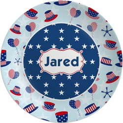 Patriotic Celebration Melamine Plate (Personalized)