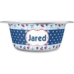 Patriotic Celebration Stainless Steel Pet Bowl - Medium (Personalized)