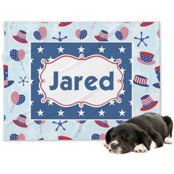 Patriotic Celebration Dog Blanket (Personalized)