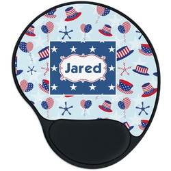 Patriotic Celebration Mouse Pad with Wrist Support