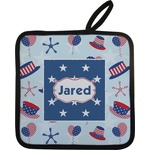 Patriotic Celebration Pot Holder w/ Name or Text