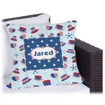Patriotic Celebration Outdoor Pillow (Personalized)