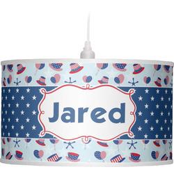 Patriotic Celebration Drum Pendant Lamp (Personalized)