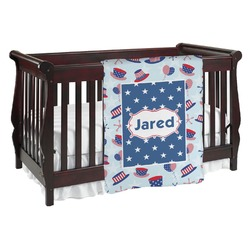 Patriotic Celebration Baby Blanket (Personalized)