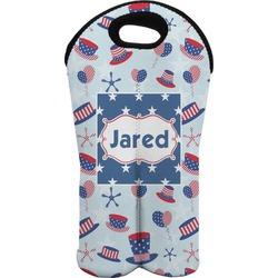 Patriotic Celebration Wine Tote Bag (2 Bottles) (Personalized)