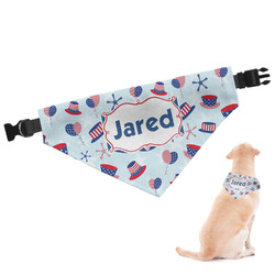 Patriotic Celebration Dog Bandana (Personalized)