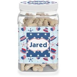 Patriotic Celebration Dog Treat Jar (Personalized)