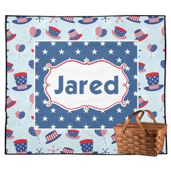 Patriotic Celebration Outdoor Picnic Blanket (Personalized)
