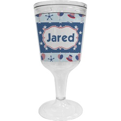 Patriotic Celebration Wine Tumbler - 11 oz Plastic (Personalized)