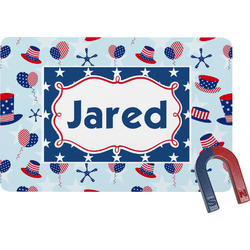 Patriotic Celebration Rectangular Fridge Magnet (Personalized)