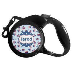 Patriotic Celebration Retractable Dog Leash - Multiple Sizes (Personalized)