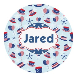 Patriotic Celebration Round Decal - Custom Size (Personalized)
