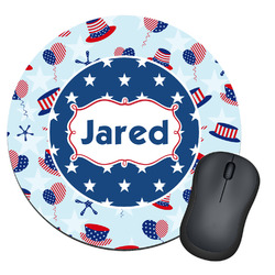 Patriotic Celebration Round Mouse Pad (Personalized)