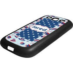 Patriotic Celebration Rubber Samsung Galaxy 3 Phone Case (Personalized)
