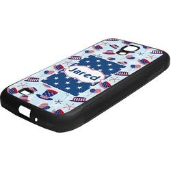 Patriotic Celebration Rubber Samsung Galaxy 4 Phone Case (Personalized)