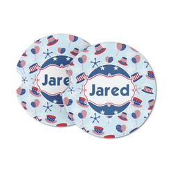 Patriotic Celebration Sandstone Car Coasters (Personalized)