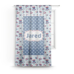 Patriotic Celebration Sheer Curtains (Personalized)