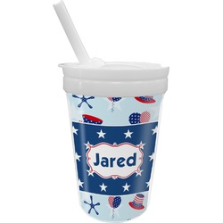 Patriotic Celebration Sippy Cup with Straw (Personalized)