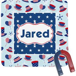 Patriotic Celebration Square Fridge Magnet (Personalized)