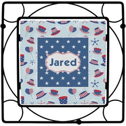 Patriotic Celebration Square Trivet (Personalized)