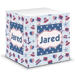 Patriotic Celebration Sticky Note Cube (Personalized)