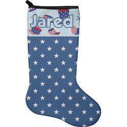 Patriotic Celebration Holiday Stocking - Neoprene (Personalized)