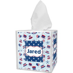 Patriotic Celebration Tissue Box Cover (Personalized)